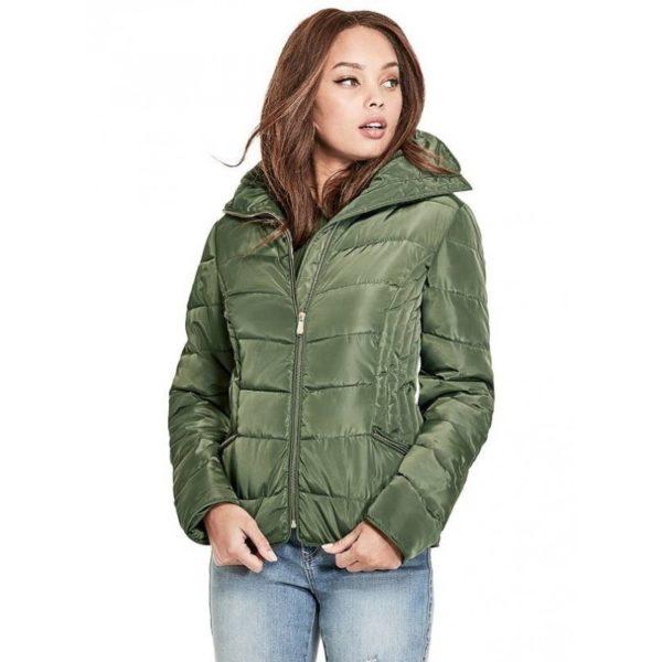 Dámská bunda G by Guess Trista Puffer Jacket dry moss