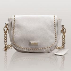 Dámská kabelka Guess Classic Leather Saddle Bag bílá