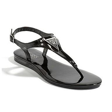 Dámské sandály Guess Carmela T-Strap Sandals černé