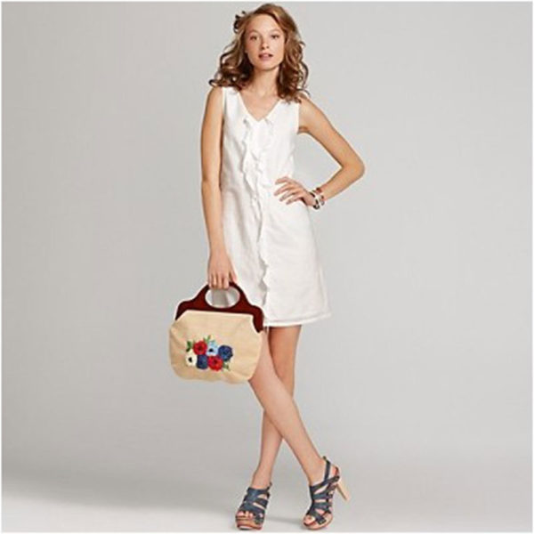 ámské šaty Tommy Hilfiger Sleeveless Ruffle Front Dress