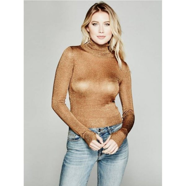 Dámský Svetr Guess By Marciano Greer Turtleneck Sweater caramel