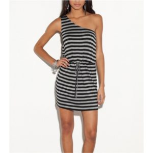 Šaty G by Guess Tracy Asymmetrical Striped Dress
