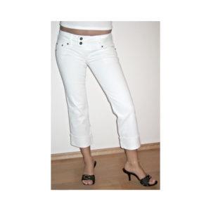 Tříčtvrteční kalhoty Guess bílé